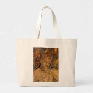 Ancient Buddhist Painting Canvas Bags