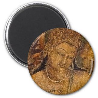 Ancient Buddhist Painting Fridge Magnet