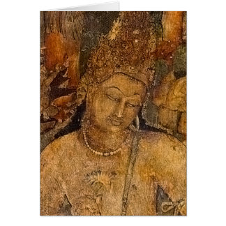 Ancient Buddhist Painting Greeting Card
