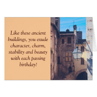 ANCIENT BUILIDINGS, STREET LANTERN, OLD EUROPEAN S NOTE CARD