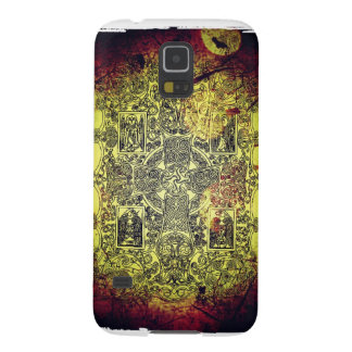 Ancient Celtic Ornament in Gold, Red, and Black Cases For Galaxy S5