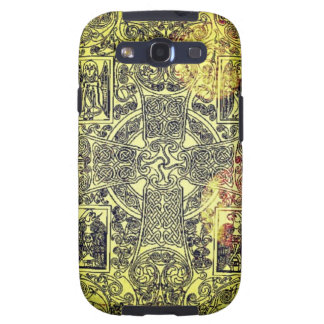 Ancient Celtic Ornament in Gold, Red, and Black Samsung Galaxy SIII Cases