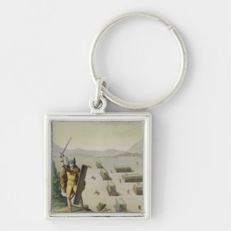 Ancient Celts or Gauls in Battle c 1800-18 colou Key Chains