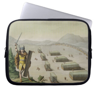 Ancient Celts or Gauls in Battle, c.1800-18 (colou Laptop Computer Sleeve