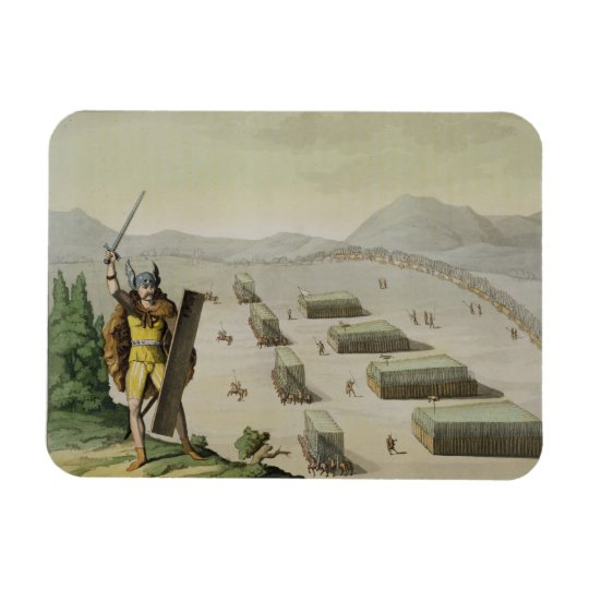 Ancient Celts or Gauls in Battle, c.1800-18 (colou Rectangular Photo Magnet