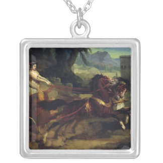 Ancient Chariot Race Silver Plated Necklace