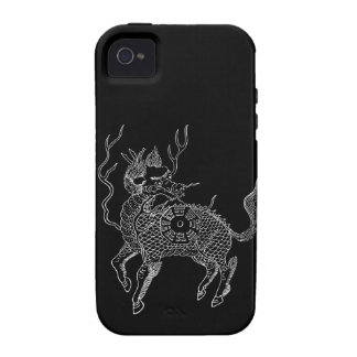 Ancient chinese auspicious dragon horse Lung Ma iPhone 4/4S Covers