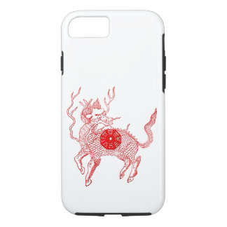 Ancient chinese auspicious dragon horse Lung Ma iPhone 8/7 Case