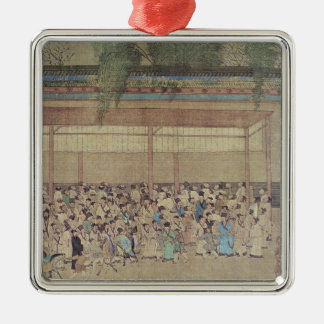 Ancient Chinese Waiting for Examination Christmas Ornament