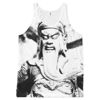 Ancient Chinese Warrior Black and White Tank Top