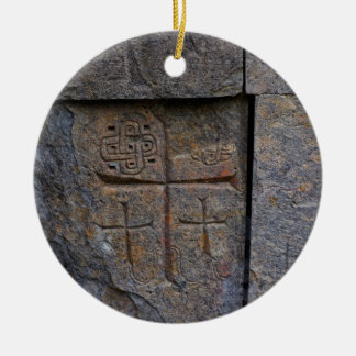 Ancient Christians Round Ceramic Decoration