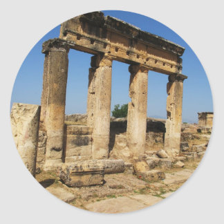 Ancient City Of Hierapolis -  a pagan cult center Round Sticker