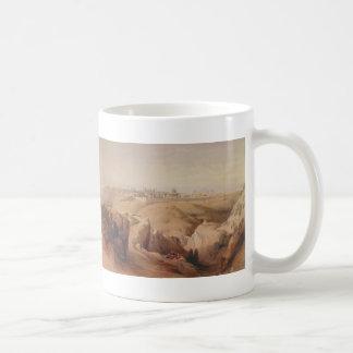 Ancient City of Jerusalem from the Mount of Olives Basic White Mug