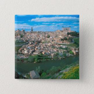 Ancient city of Toledo, Spain. 15 Cm Square Badge