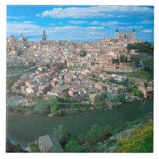 Ancient city of Toledo, Spain. Tile