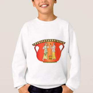 Ancient civilisation, designs from pottery sweatshirt