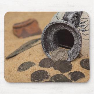 Ancient coins mouse mat