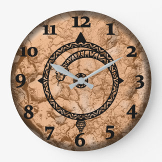 ANCIENT COMPASS by Slipperywindow Large Clock