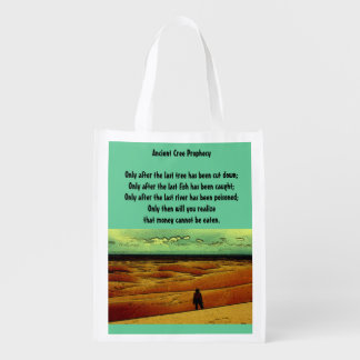Ancient Cree Prophecy Reusable Grocery Bag