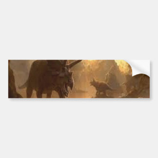 ancient dinosaur bumper sticker