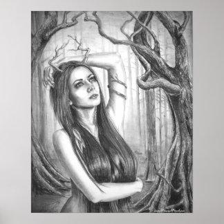 Ancient Dryad Poster Goddess Poster Tree Spirit