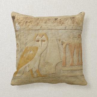 Ancient Egypt Egyptian hieroglyph Owl God Throw Pillow