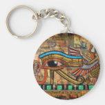 Ancient Egypt Eye of Horus Wadjet Keychain