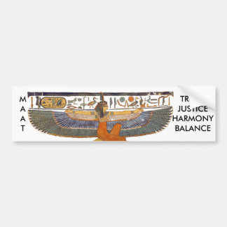 Ancient Egypt Goddess MA'AT Bumper Sticker