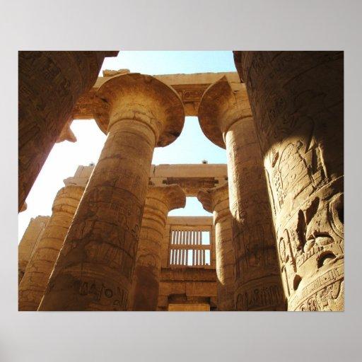Ancient Egypt Karnak Temple hieroglyphics travel Poster