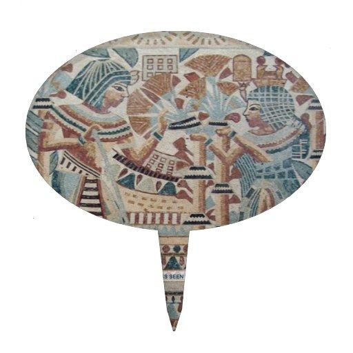 ANCIENT EGYPT MOSAIC ART CAKE PICK