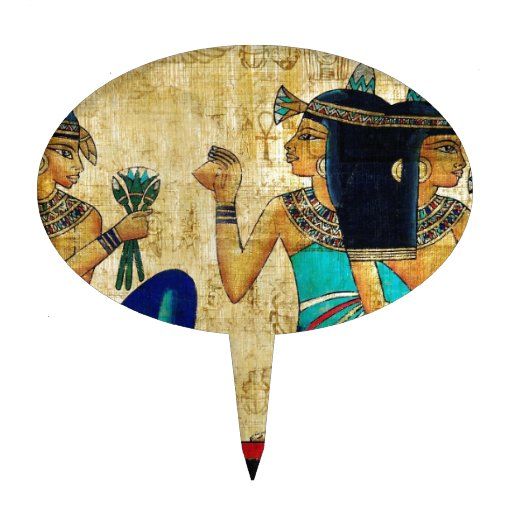 ANCIENT EGYPT PAINTING CAKE PICK