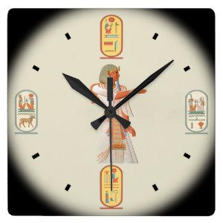 Ancient Egypt ~ Pharaoh Mienptah-Hotéphimat ~1878 Square Wall Clock