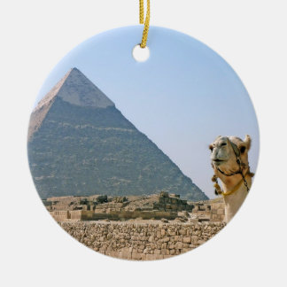Ancient Egypt: Pyramid and Camel Christmas Ornament