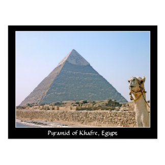 Ancient Egypt: Pyramid of Khafre, Egypt Postcard