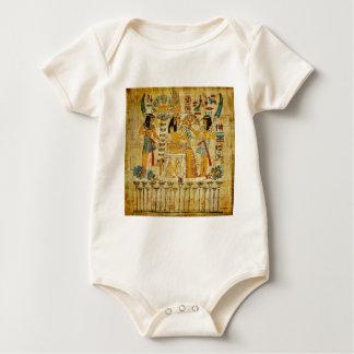 Ancient Egypt Tapestry Scroll Heirogliphics Baby Bodysuit