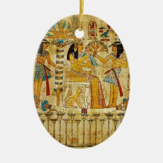 Ancient Egypt Tapestry Scroll Heirogliphics Christmas Ornament