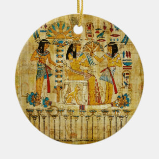 Ancient Egypt Tapestry Scroll Heirogliphics Christmas Ornament