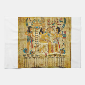 Ancient Egypt Tapestry Scroll Heirogliphics Tea Towel