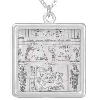 Ancient Egyptian and Persian Silver Plated Necklace