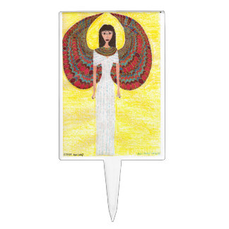Ancient Egyptian Angel Cake Toppers