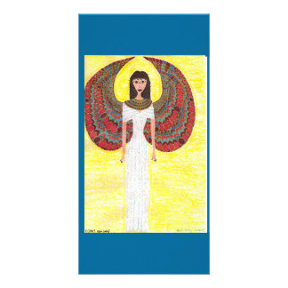 Ancient Egyptian Angel Customized Photo Card