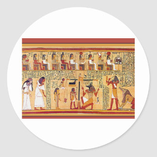 Ancient Egyptian Book of the Dead. Round Sticker