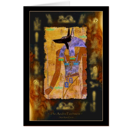 Ancient Egyptian God Anubis Gift Range Card
