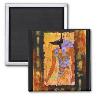 Ancient Egyptian God Anubis Gift Range Square Magnet