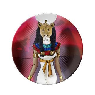 Ancient Egyptian Goddess Sekhmet Plate