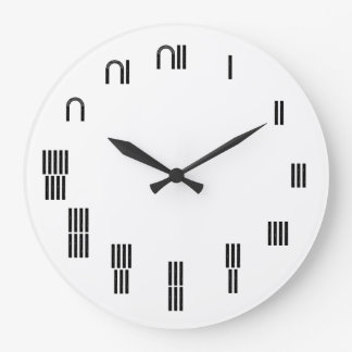 Ancient Egyptian Hieroglyph Large Clock