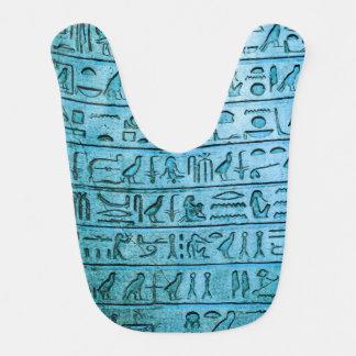 Ancient Egyptian Hieroglyphs Blue Baby Bibs