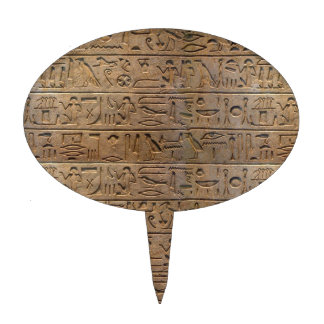 Ancient Egyptian Hieroglyphs Designer Gift Cake Toppers