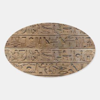 Ancient Egyptian Hieroglyphs Designer Gift Oval Sticker