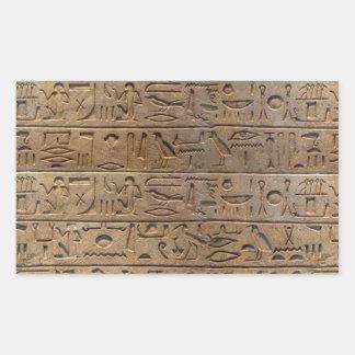 Ancient Egyptian Hieroglyphs Designer Gift Rectangular Sticker